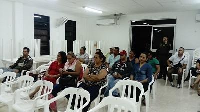 Se adelantó reunión con los comerciantes para presentar el proyecto de las alarmas comunitarias