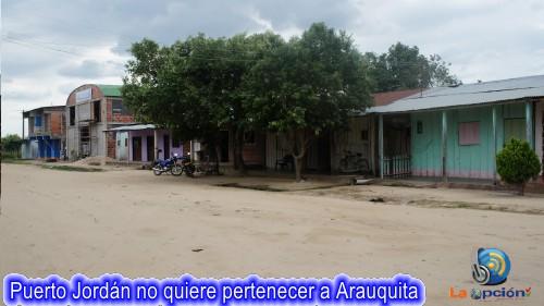 Comunidad de Puerto Jordán preocupada, no quieren pertenecer a Arauquita
