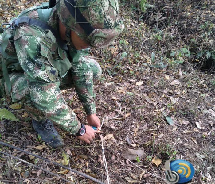 Ejército Nacional destruye controladamente áreas minadas en el departamento de Arauca