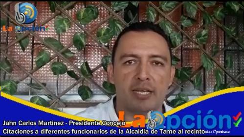 Concejo municipal avanza con los debates de control político en Tame