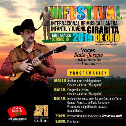 Llega la tercera versión del festival internacional de música llanera infantil y juvenil el Girarita de Oro en Tame