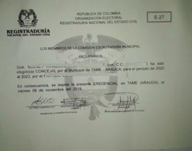 Escrutinios finalizaron en el municipio de Tame, respetando todo el proceso, indicó el secretario de gobierno Municipal