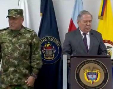 """""""No teníamos conocimiento de la existencia de menores en ese campamento"""", manifestó General Navarro, Ministro Encargado de Defensa"""