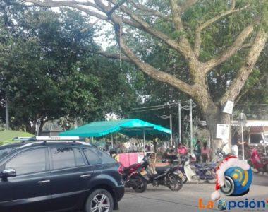 Continúa el trabajo de recuperación del Parque Central de Tame