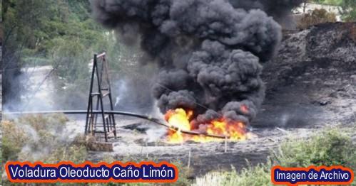 Atentado a oleoducto Caño Limón Coveñas en Arauca