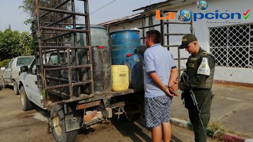 En Tame, incautados más de 280 galones de gasolina de contrabando