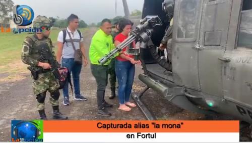 """Capturada alias """"la mona"""" de la comisión Omaira Montoya del eln"""