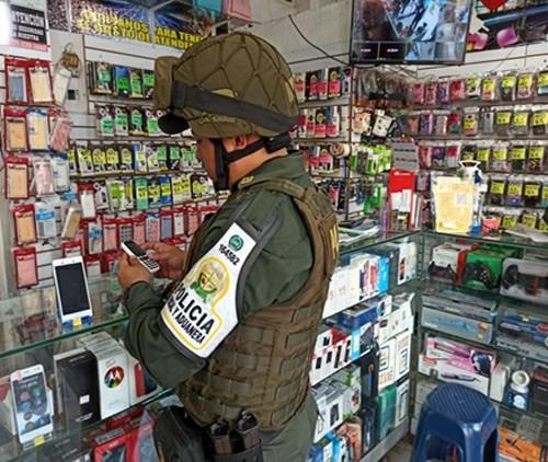 Equipos celulares de contrabando aprehendidos por la Policía Nacional en Arauca