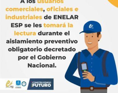 ENELAR ESP inicia proceso de toma de lectura a usuarios Comerciales, Oficiales e Industriales en el área urbana
