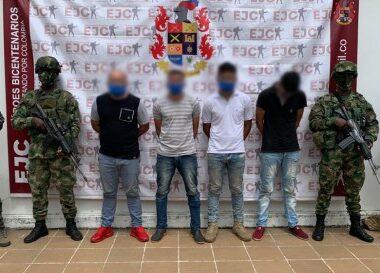 En la Vereda Islas del Cusay del municipio de Tame, el Ejército Nacional capturó dos integrantes del ELN
