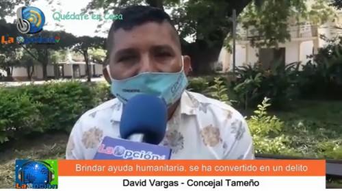 """Concejal Tameño David Vargas """"Salgo a trabajar a las calles para ayudar a la gente, no sirvo para estar detrás de un celular y una pantalla haciendo críticas"""""""