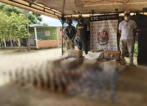 Incautadas 342 botellas de licor que iban a ingresar al departamento de forma ilegal