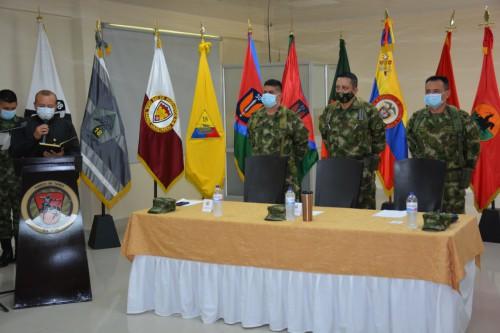 El nuevo Comandante de la Fuerza de Tarea Quirón Unidad orgánica de la Octava División es Tolimense