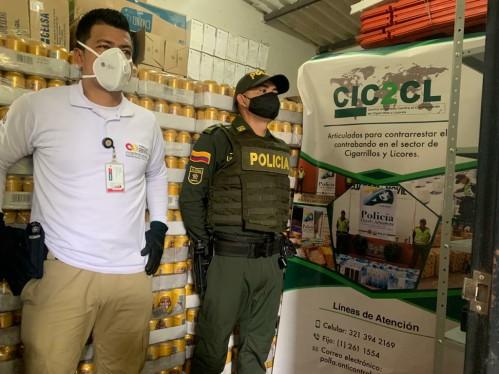 En Tame, nuevamente incautada cerveza de contrabando, esta vez por valor de 15 millones de pesos