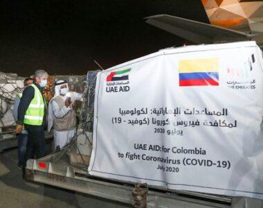 Emiratos envió más ayuda a Colombia para enfrentar el coronavirus