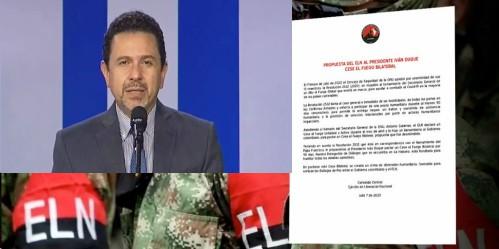 Gobierno Colombiano descarta propuesta del Eln de cese el fuego bilateral