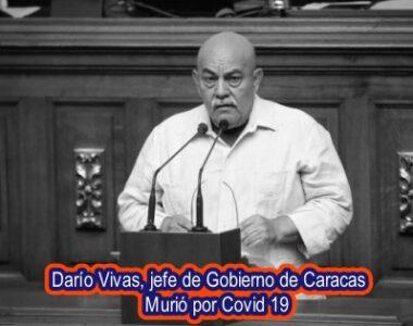 Murió por coronavirus el jefe de gobierno de Caracas, Darío Vivas