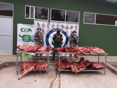 Incautan más de 600 kilos de carne de contrabando por un valor de cinco millones de pesos aproximadamente