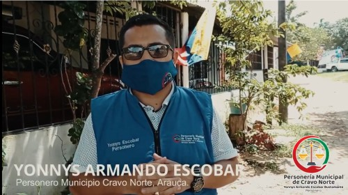 Personería de Cravo Norte, entrega kits de aseo a migrantes Venezolanos presentes en el territorio