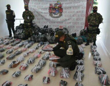 Doce millones de pesos aprehendidos representados en 340 pares de calzado de contrabando
