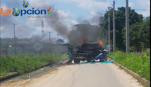 Dos Mujeres y un menor de edad resultaron afectados, después de la explosión de un vehículo en Arauquita