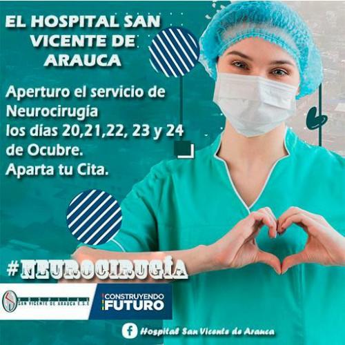 El Hospital San Vicente de Arauca apertura la especialidad de Neurocirugía