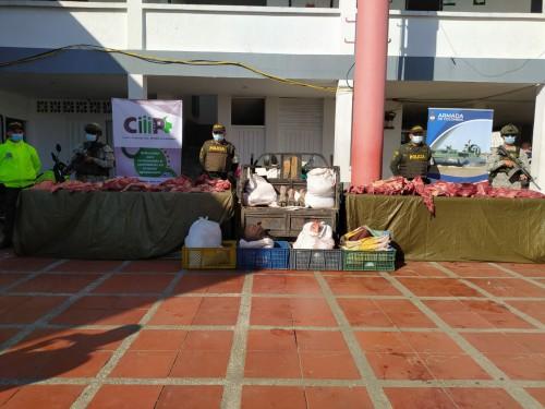 Incautados 1.080 kilogramos de perecedero entre pescado y carne de contrabando
