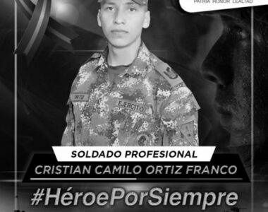 Falleció un soldado profesional y otro resultó herido en enfrentamiento en la Vereda Palo de Agua del municipio de Fortul