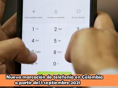 Así cambia la marcación de la telefonía en Colombia a partir de este 1 de septiembre