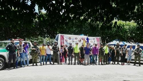 En Tame, capturadas 15 personas por rebelión y microtráfico