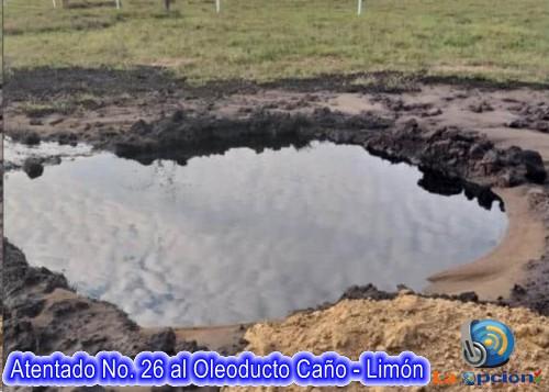 Atentado No. 26 al oleoducto Caño Limón Coveñas en Arauca