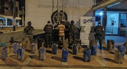 Incautados 198 galones de ACPM de contrabando por la Policía de Arauca