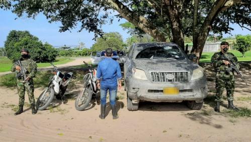 La camioneta asignada por la UNP al Alcalde de Puerto Rondón fue hurtada y recuperada