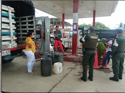 La desviación ilegal de hidrocarburos es un delito consagrado en el artículo 319 Código de Procedimiento Civil, Policía Nacional en Arauca lo contrarresta