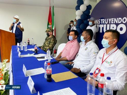 Autoridades, en cabeza del Gobernador del Departamento inauguraron la sede Administrativa de la ESE Moreno y Clavijo en Tame