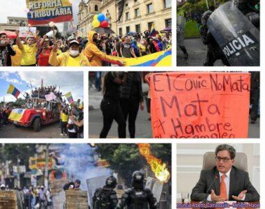 """Reforma Tributaria deja en Colombia """"disturbios, saqueos, asesinatos, heridos, y la renuncia del Ministro de Hacienda Alberto Carrasquilla"""""""