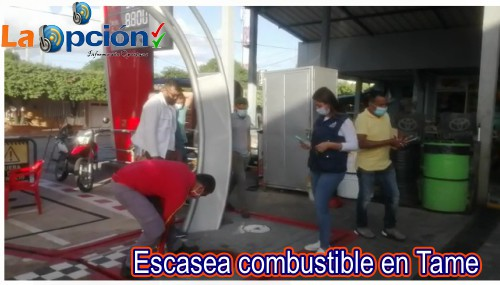 Escasea el combustible en el municipio de Tame
