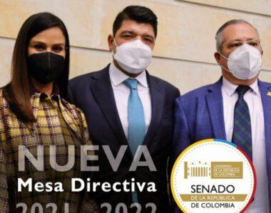 Elegida nueva Mesa Directiva del Senado de la República 2021